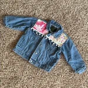Vintage Baby Gap Jean Jacket 3T Girls Floral